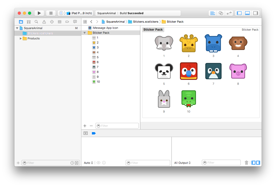 Sticker Pack XCode Project